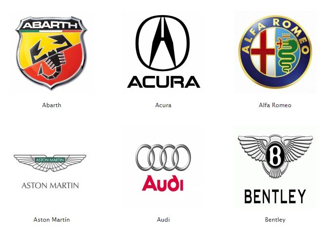 Logos de coches el blog de imosa - Las mejores marcas de sofas ...