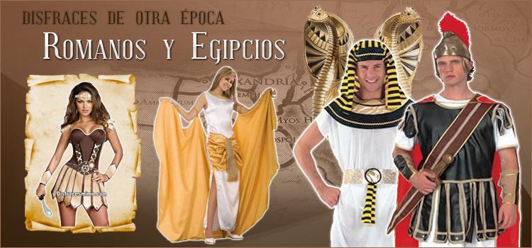 Disfraces originales de romanos y egipcios